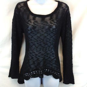 Selfie Couture Black Knit Hi/Low Sweater